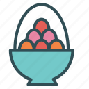 basket, decoration, easter, egg, holiday icon