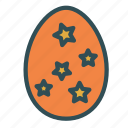 decoration, easter, egg, star icon