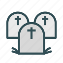 cross, grave, graveyard, stone, tomb icon