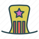 celebration, costume, hat, party, star icon