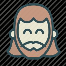 avatar, christian, face, jesus icon