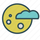 cloud, haloween, moon, night icon