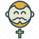 avatar, church, cross, happy, priest icon
