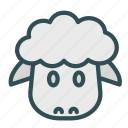 animal, avatar, face, sheep icon