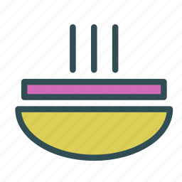 food, holiday, meal, plate, soup icon