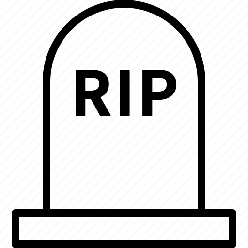 Dead, gravestone, halloween, headstone, rest in peace, rip, tombstone icon - Download on Iconfinder