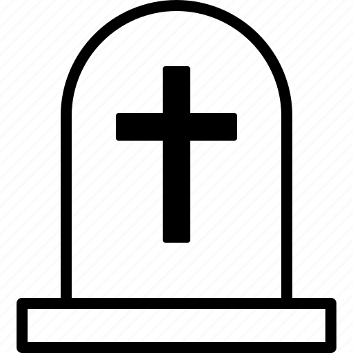 Cross, dead, death, gravestone, halloween, headstone, tombstone icon - Download on Iconfinder