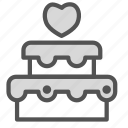 cake, heart, love, wedding icon