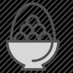 basket, decoration, easter, egg, holiday icon