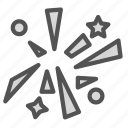 fireworks, newyear, party, shapes, stars icon