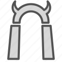 demon, devil, entrance, gate, hell icon