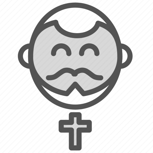 avatar, church, cross, happy, priest icon