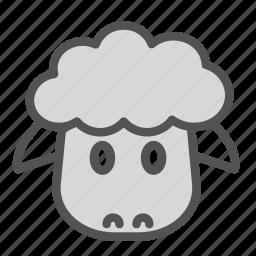 animal, avatar, face, sheep icon