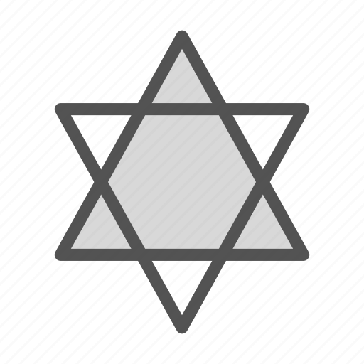 david, religion, shape, star icon