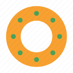 candy, christmas, circle, cookie, figure, round, shape icon