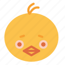 avatar, chick, chicken, face, figure icon