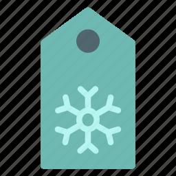 christmas, holiday, shop, snowflake, tag, xmas icon