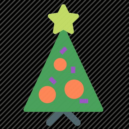 christmas, decoration, holiday, star, tree, xmas icon