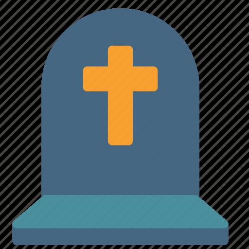 church, cross, grave, graveyard icon