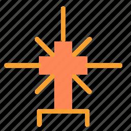 christian, cross, religion, shiny icon