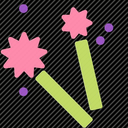 celebration, fireworks, party, star icon