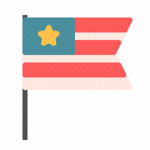 country, flag, pole icon