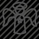 angel, avatar, figure, holy, star icon
