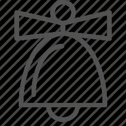bell, christmas, decoration, holiday, ribbon, xmas icon
