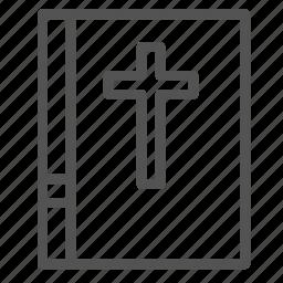 bible, book, christian, church, cross, holy icon