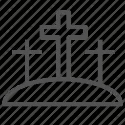 calvary, christian, cross, jesus icon