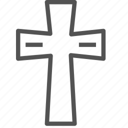 christian, cross, religion, shape icon
