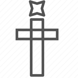 christian, christmas, cross, decoration, star, xmas icon