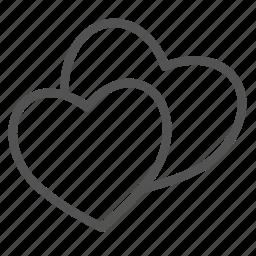 couple, heart, love, two, valentine icon