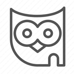animal, avatar, face, haloween, owl icon