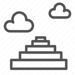 cloud, god, heaven, sky, stairs icon
