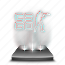 cs, entertainment, game, go, hologram, video icon