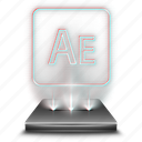 adobe, after, aftereffects, animation, effects, hologram, tool icon