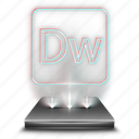 adobe, design, dreamweaver, hologram, tool, web, webmaster icon