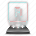 adobe, animation, design, flash, hologram, tool icon