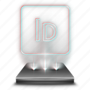 adobe, design, graphic, hologram, indesign, tool icon