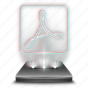 adobe, document, file, hologram, pdf, reader icon