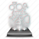 agar, agario, entertainment, game, hologram, mobile icon