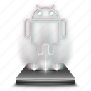 android, device, hologram, holographic, mobile, phone, smartphone icon