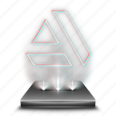 art, graphic, hologram, portal, social, station icon