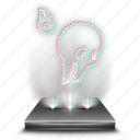 badland, entertainment, game, hologram, mobile, video icon