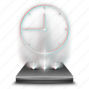 alarm, calendar, clock, event, hologram, schedule, timer icon