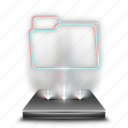data, document, documents, files, folder, hologram icon