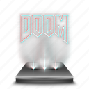 doom, entertainment, game, hologram, video icon