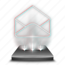 contact, email, envelope, hologram, mail, message icon