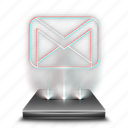 communication, gmail, google, hologram, notification, work icon